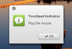 Touchpad indicator - plug mouse
