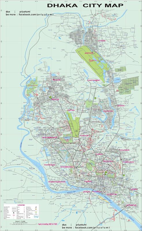 Dhaka city map in very large size may2011 final | Bangladeshi ...