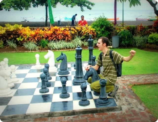 Jack riding the chess horse