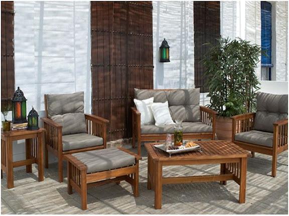 Muebles de jard n en carrefour ii for Mobiliario madera jardin