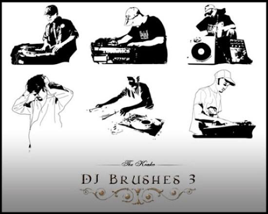 6 pincéis alta resolução DJs