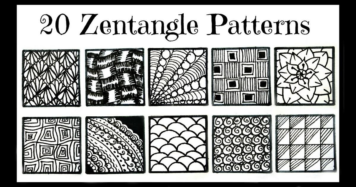 Zentangle Patterns Step Step Corner