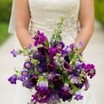 Deep Purple Wedding Bouquets