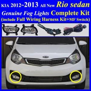 Fog Light Lamp Complete Kit  Wiring Harness Kit for Hyundai Kia Vehicle: Fog Light Complete Kit