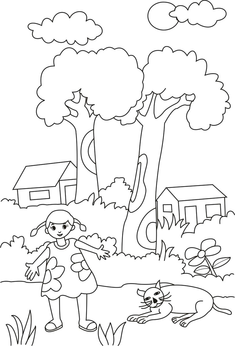 Sketsa Gambar Sekolah : sketsa, gambar, sekolah, Mewarnai, Sketsa, Gambar, Sekolah, Terbaru, KataUcap