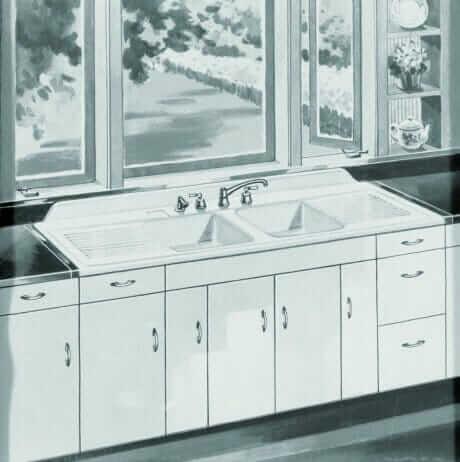 retro kitchen sink