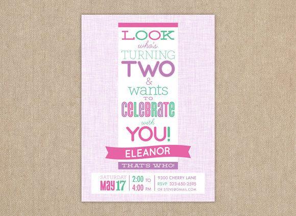 40th Birthday Ideas 2 Year Old Birthday Invitation Templates