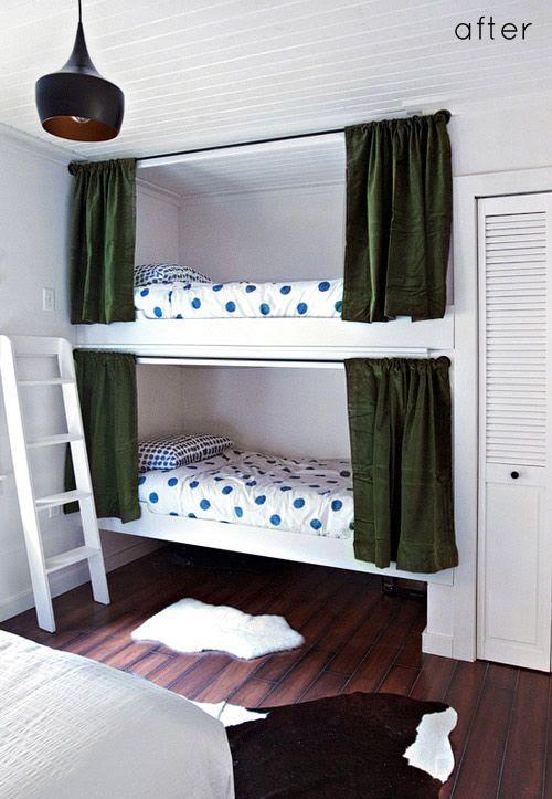 diy bunk bed curtains