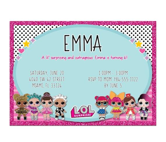 invitation anniversaire lol surprise