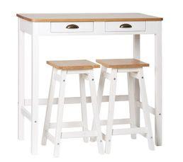 belle table de cuisine blanche