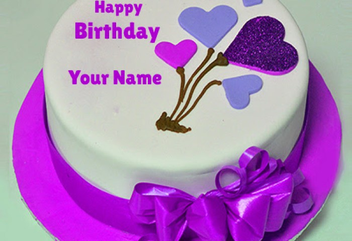 Backgroun Wall Birthday Cake With Name And Photo