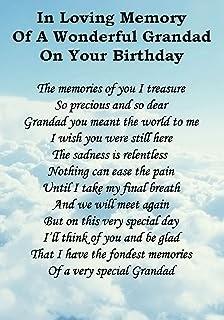 Happy Birthday To My Grandpa In Heaven Poem