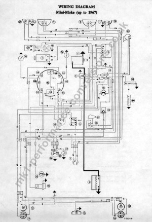 austin mini 1000 wiring diagram