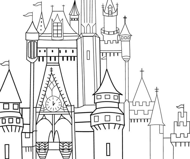 Contoh Gambar Mewarnai Istana Mermaid Kataucap