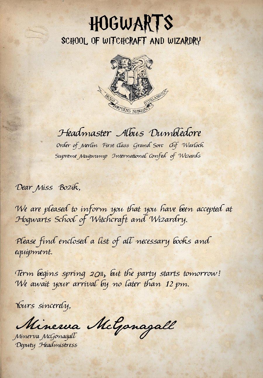 birthday hogwarts letter anja