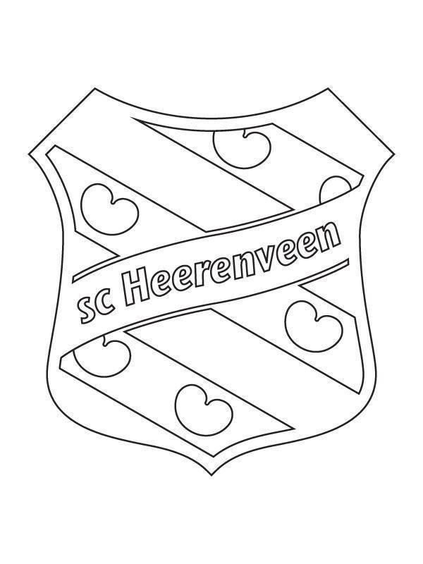 barcelona embleem kleurplaat