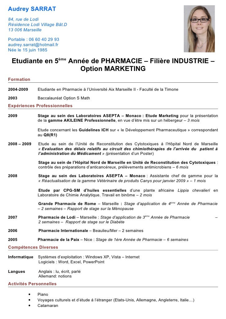 Lettre De Motivation Pharmacien Debutant House My B
