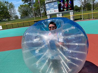 SWKIA Participant in a Giant Inflatable Ball