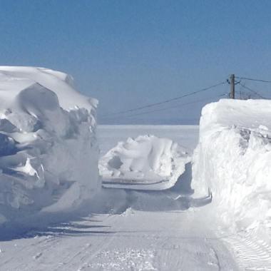 la neige à Caraquet