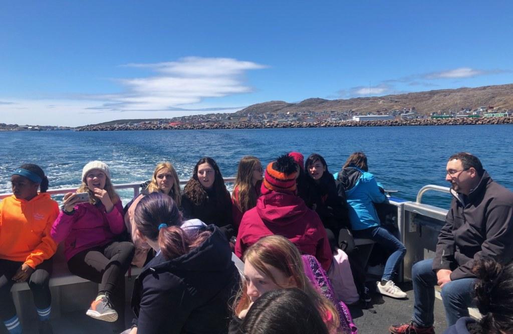 en route sur la navette vers 'l'ile aux marins