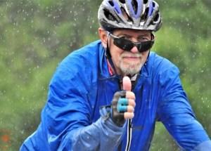 cycliste en Acadie