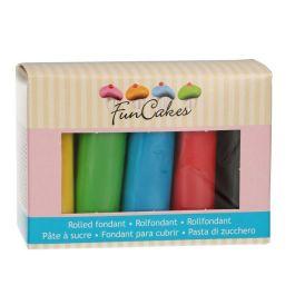 Coffret pâte à sucre – couleurs essentiel – 5x100gr – Fun Cakes