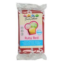 Pâte à sucre rouge rubis 250g