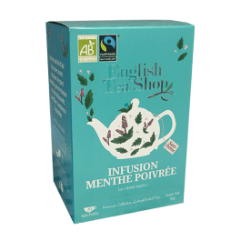 Infusion menthe intense  poivrée 20 sachets plats – English Tea Shop