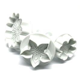 Découpoir poussoir fleur set/3 – Dekofee