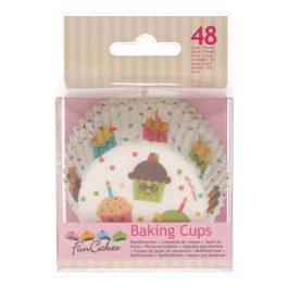 Caissettes à cupcakes fêtes – 48 pcs – Fun Cakes