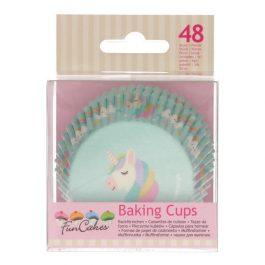 Caissettes à cupcakes Licorne – 48 pcs – Fun Cakes