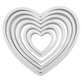 Emporte pièce coeur x6 – PME