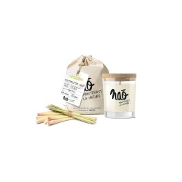 Bougies grand format» avec sac coton bio citronnelle» – Nao