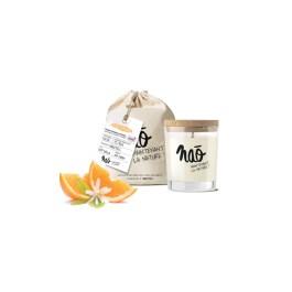 Bougies grand format» avec sac coton bio fleur d'oranger» – Nao
