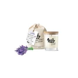 Bougies grand format» avec sac coton bio lavande» – Nao