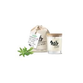 Bougies grand format» avec sac coton bio verveine» – Nao
