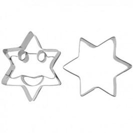 Découpoir inox sourire étoile x2 – Pâtisse