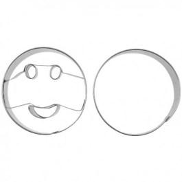 Découpoir inox sourire rond x2 – Pâtisse
