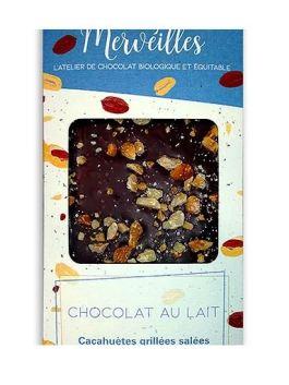 Tablette chocolat lait cacahuètes grillées salées 60g – Lady Merveilles