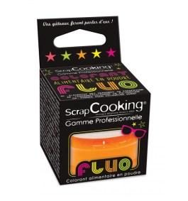 Colorant alimentaire en poudre orange fluo 3g  – ScrapCooking