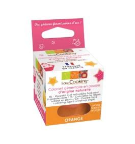 Colorant alimentaire en poudre d'origine naturelle orange 10gr – ScrapCooking