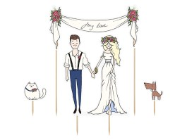 Cake topper day love 8-22,5 CM – KPT17 – PartyDeco