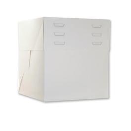 Boîte pâtissière blanche hauteur réglable de 20 à 30 cm