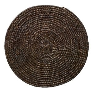dark-brown-round-rattan-placemat