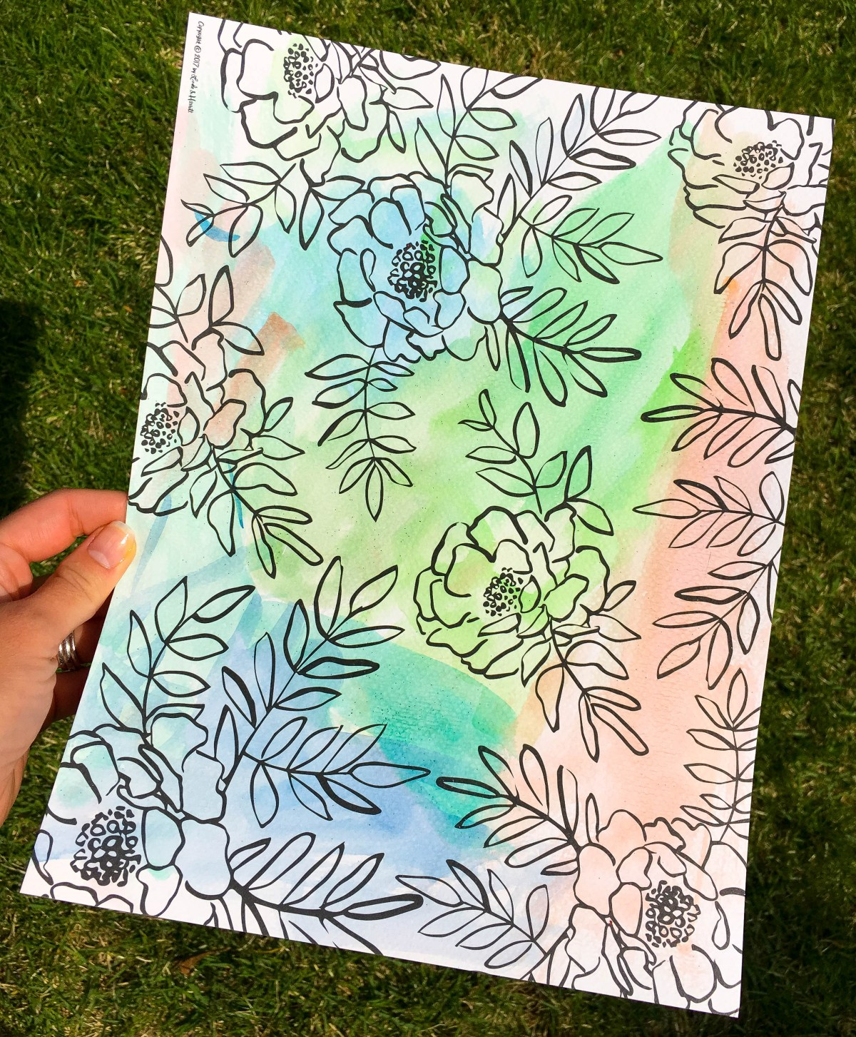 color-splash-coloring-book-page-flowers