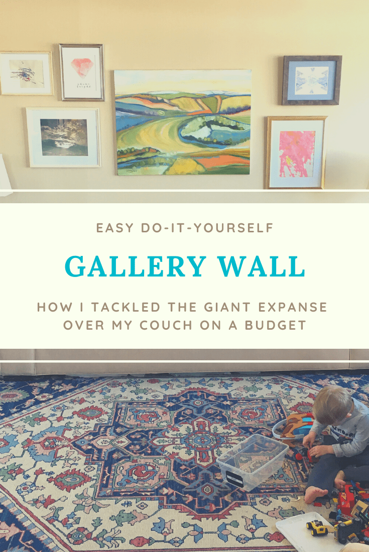 Creating a Gallery Wall (How I Tackled the Giant Expanse Over My Couch on a Budget)