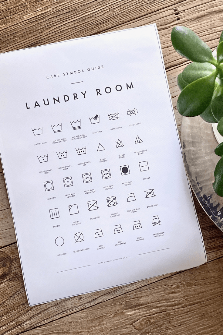 Easy DIY Framed Laundry Room Care Symbol Guide