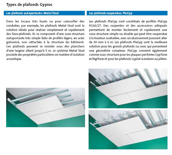 Gyproc faux-plafonds