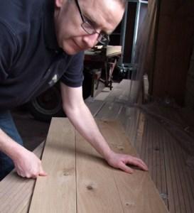 Plancher chêne rustique