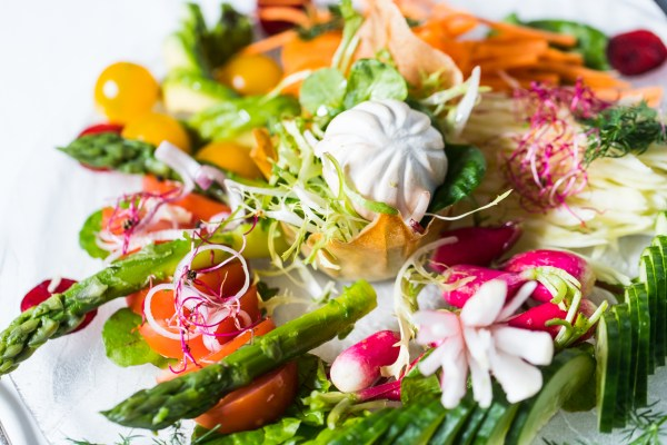 Hotel de France ultimate vegetarian garden platter salad